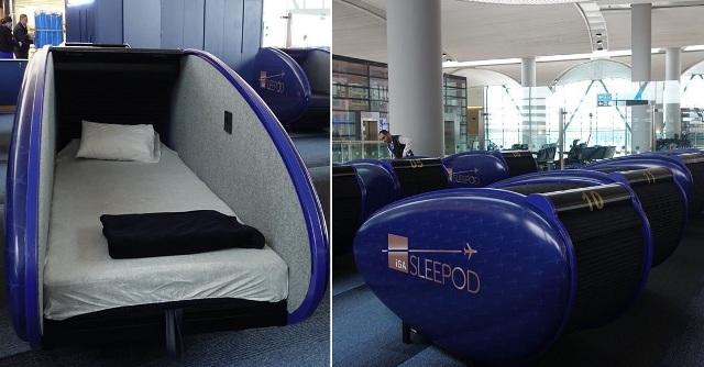 في مطار اسطنبول...كبائن نوم بخدمة المسافرين لأخد قسط من الراحة أثناء انتظار موعد رحلتهم