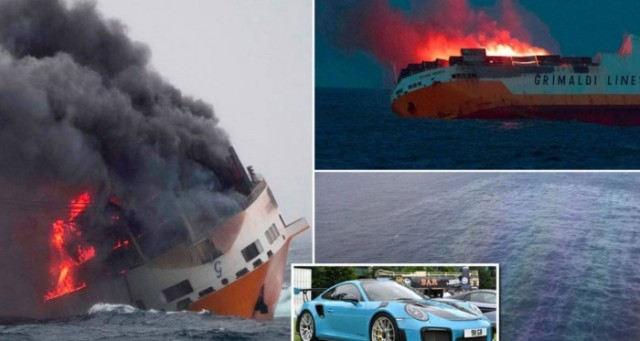 بينها 37 'بورش'... آلاف السيارات تغرق في عرض المحيط الأطلسي!